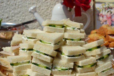Traditional cucumber sandwiches - regular consumption when young leads to developing a posh accent.