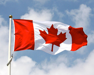 The Maple Leaf flew proudly, until it was cheekily replaced with a plastic Stars & Stripes