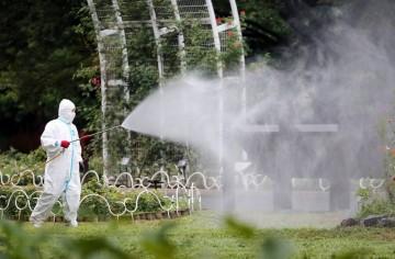 Yoyogi Park was sprayed for Australians beforehand.