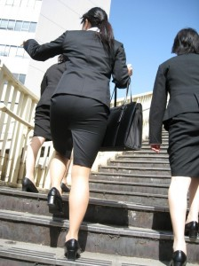 Tokyo`s many stairways allow perverts plenty of prime viewing locations