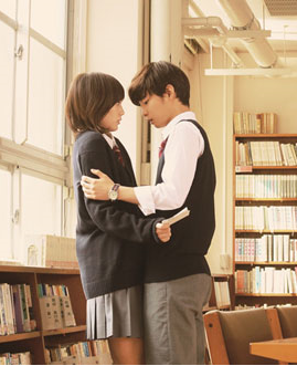 These two aren`t making out. They`re simply rehearsing a drama for the school festival.